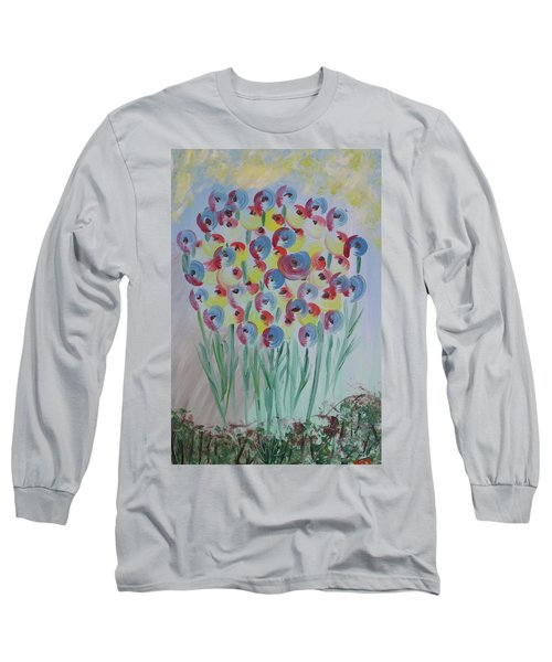 Flower Twists Long Sleeve T-Shirt by Barbara Yearty
