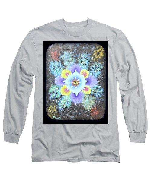 Floral Vortex Long Sleeve T-Shirt