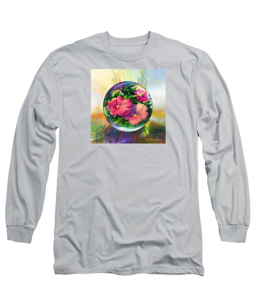 Long Sleeve T-Shirt featuring the painting Flowering Panopticon by Robin Moline