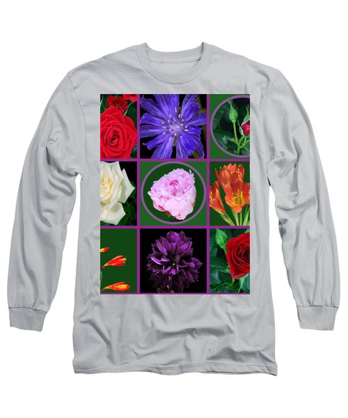 Flowers Floral Customize Border Color Choose Paper Type N Frames Navinjoshi Fineartamerica Pixels  Long Sleeve T-Shirt