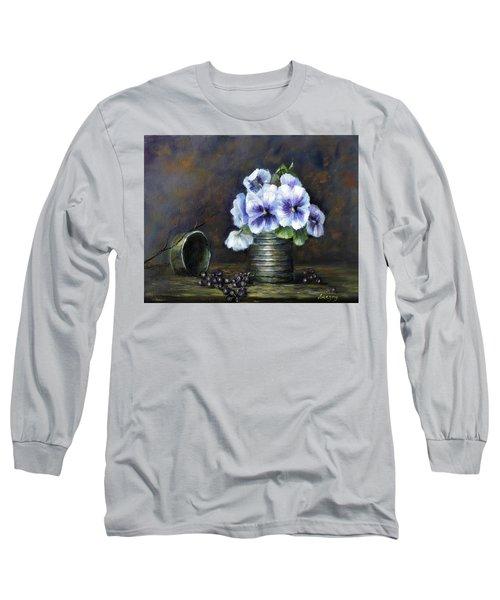 Flowers,pansies Still Life Long Sleeve T-Shirt