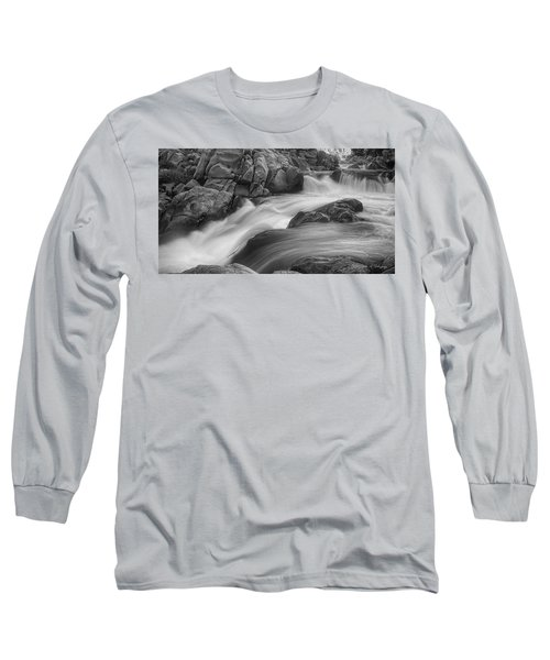 Flowing Waters At Kern River, California Long Sleeve T-Shirt by John A Rodriguez