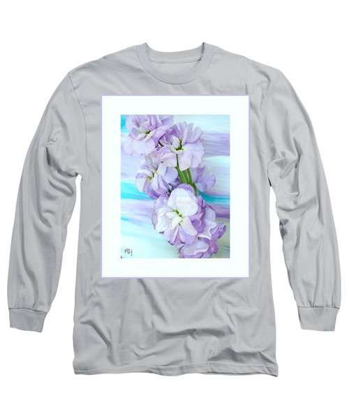 Long Sleeve T-Shirt featuring the mixed media Fluffy Flowers by Marsha Heiken