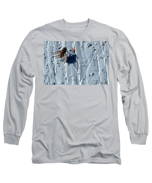 Long Sleeve T-Shirt featuring the photograph Fly On The Wall by Betty Northcutt