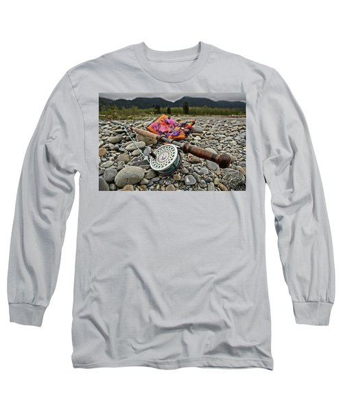 Fly Rod And Streamers Landscape Long Sleeve T-Shirt