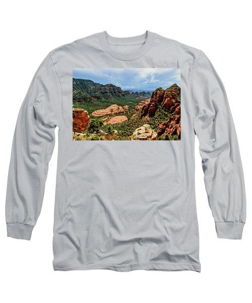 Flying Buttress 04-097 Long Sleeve T-Shirt by Scott McAllister