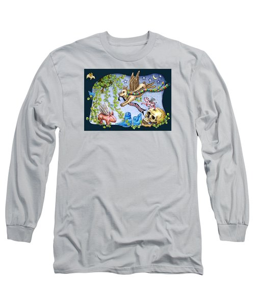 Flying Pig Party 2 Long Sleeve T-Shirt by Retta Stephenson