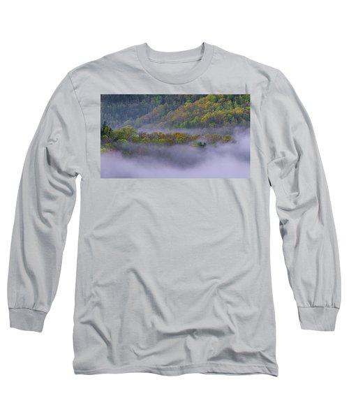 Fog In The Hills Long Sleeve T-Shirt by Ulrich Burkhalter