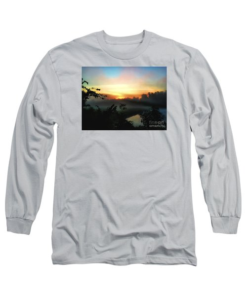 Foggy Edges Sunrise Long Sleeve T-Shirt