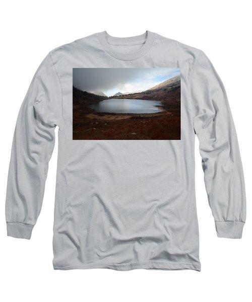 Long Sleeve T-Shirt featuring the photograph Foggy Favre Lake by Jenessa Rahn
