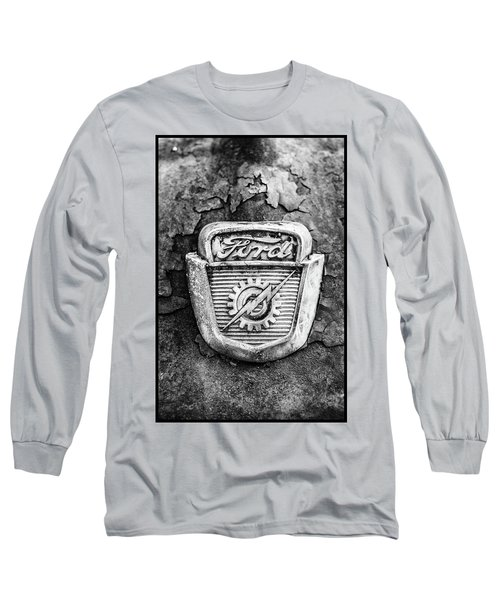 Ford Emblem On A Rusted Hood Verticle Long Sleeve T-Shirt