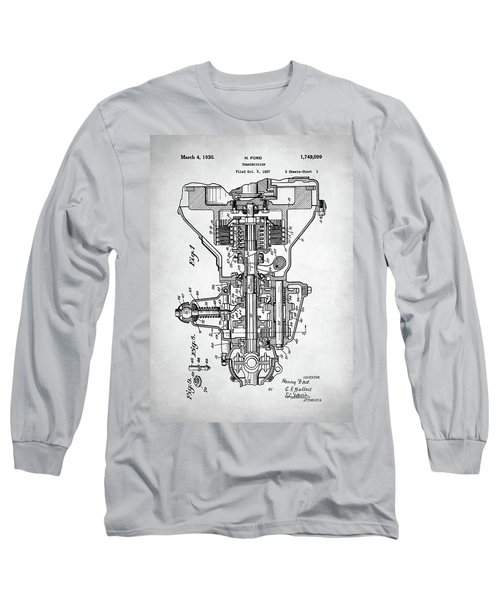 Ford Engine Patent Long Sleeve T-Shirt by Taylan Apukovska