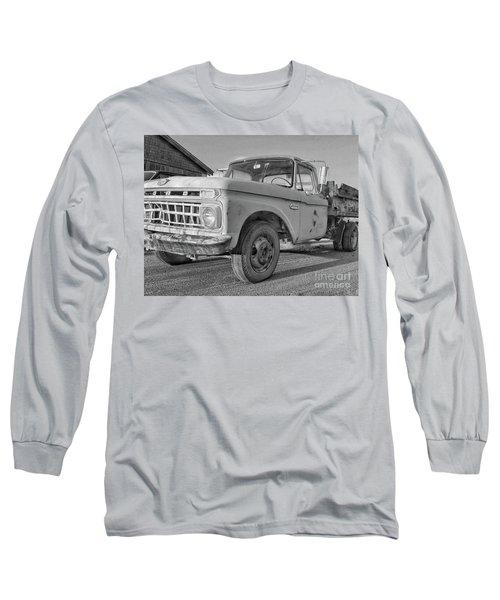 Ford F-150 Dump Truck Bw Long Sleeve T-Shirt