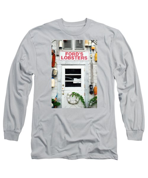 Fords Lobster Long Sleeve T-Shirt by James Kirkikis