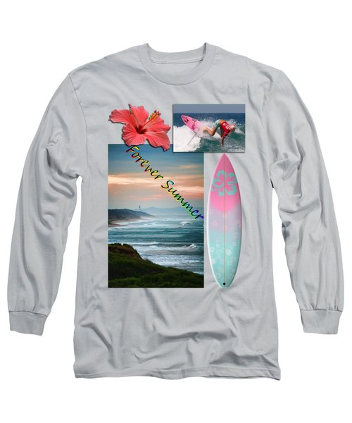 Long Sleeve T-Shirt featuring the photograph Forever Summer 5 by Linda Lees