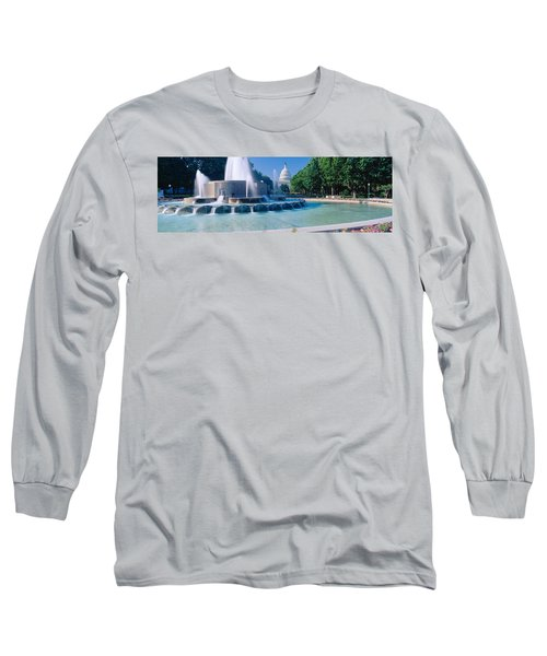 Fountain And Us Capitol Building Long Sleeve T-Shirt