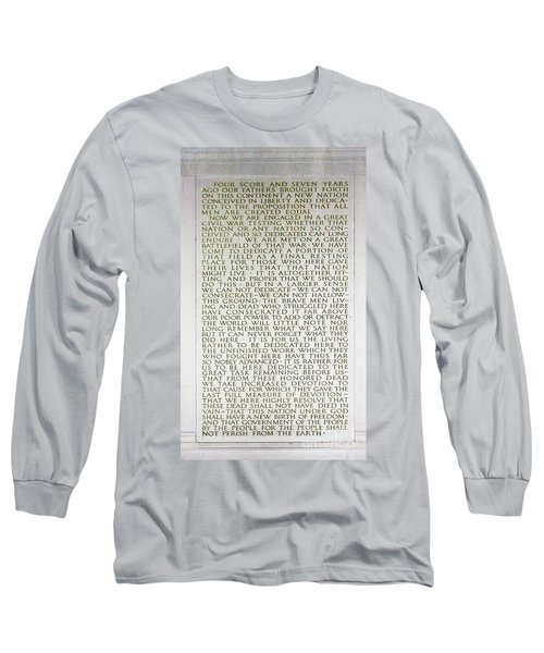 Four Score And Seven Years...... Long Sleeve T-Shirt by Allen Beatty