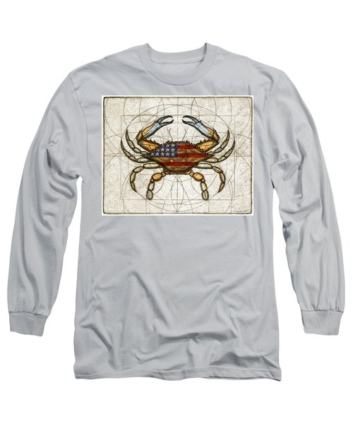 Fourth Of July Crab Long Sleeve T-Shirt