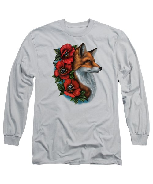 Fox And Poppies Long Sleeve T-Shirt