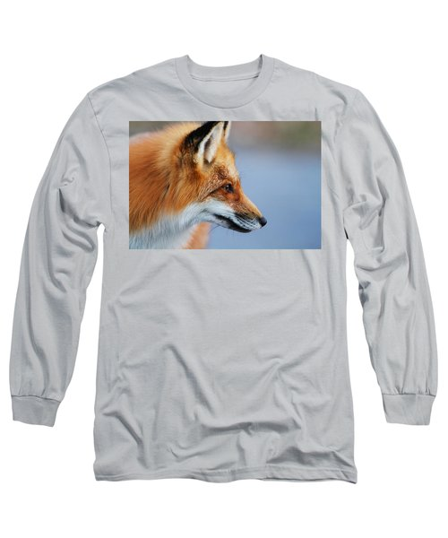 Fox Profile Long Sleeve T-Shirt by Mircea Costina Photography