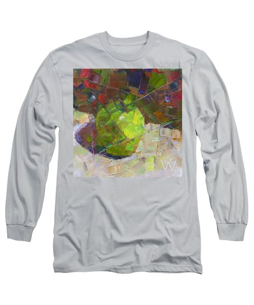 Fractured Granny Smith Long Sleeve T-Shirt by Susan Woodward