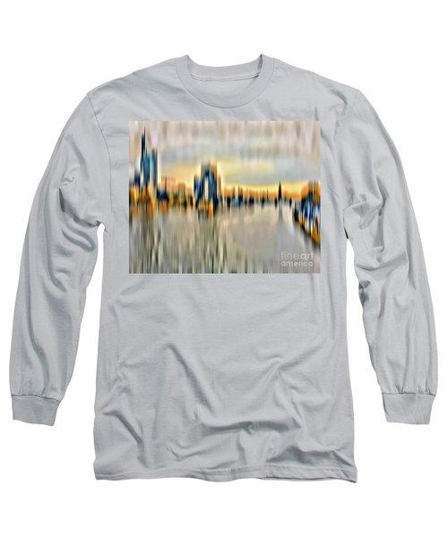 Frankfurt - Golden Sunset Abstract Long Sleeve T-Shirt