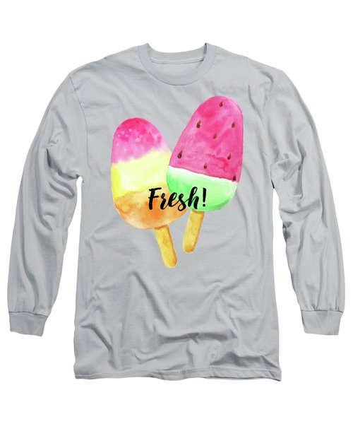 Fresh Summer Refreshing Fruit Popsicles Long Sleeve T-Shirt