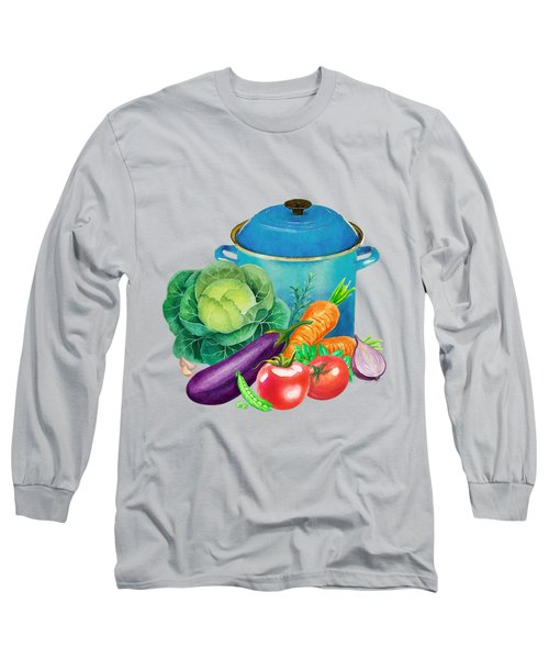 Fresh Vegetable Bounty Long Sleeve T-Shirt by Little Bunny Sunshine