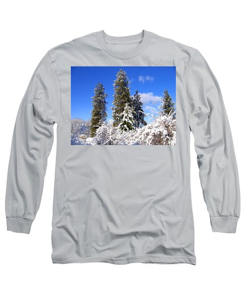 Long Sleeve T-Shirt featuring the photograph Fresh Winter Solitude by Will Borden