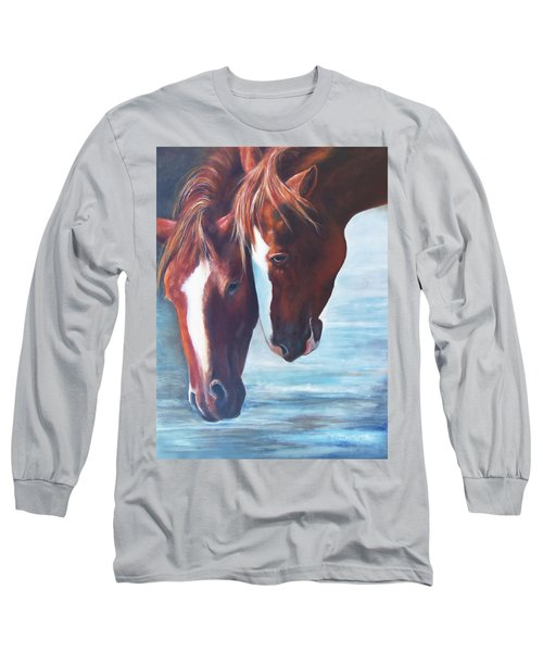 Friends For Life Long Sleeve T-Shirt by Karen Kennedy Chatham