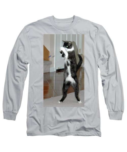 Frisbee Cat Long Sleeve T-Shirt