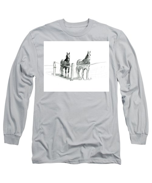 Friesian Horses Long Sleeve T-Shirt
