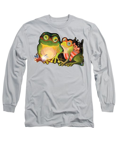 Frogs Transparent Background Long Sleeve T-Shirt