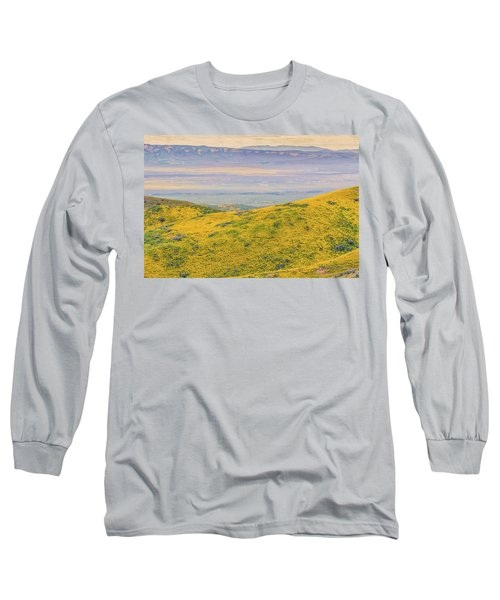 From The Temblor Range To The Caliente Range Long Sleeve T-Shirt by Marc Crumpler