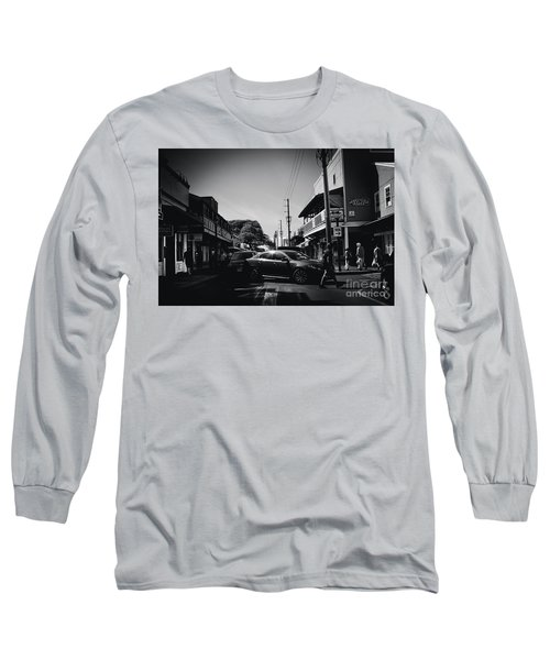 Long Sleeve T-Shirt featuring the photograph Front Street  by Sharon Mau