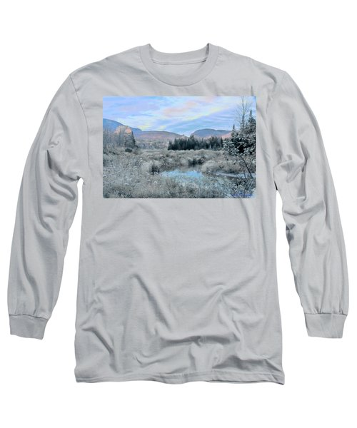 Frost On The Bogs Long Sleeve T-Shirt by John Selmer Sr