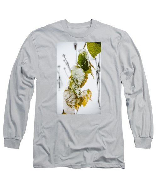 Long Sleeve T-Shirt featuring the photograph Frosted Green And Yellow by Deborah Smolinske
