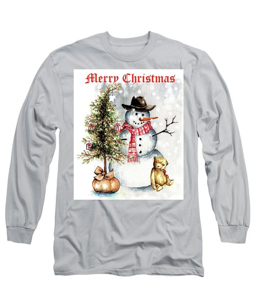 Frosty The Snowman Greeting Card Long Sleeve T-Shirt