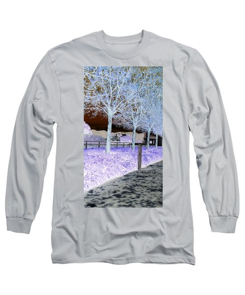 Frosty Trees At The Getty Long Sleeve T-Shirt