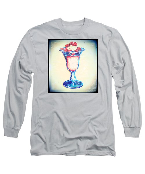 Frosty Vintage Strawberry Parfait Long Sleeve T-Shirt