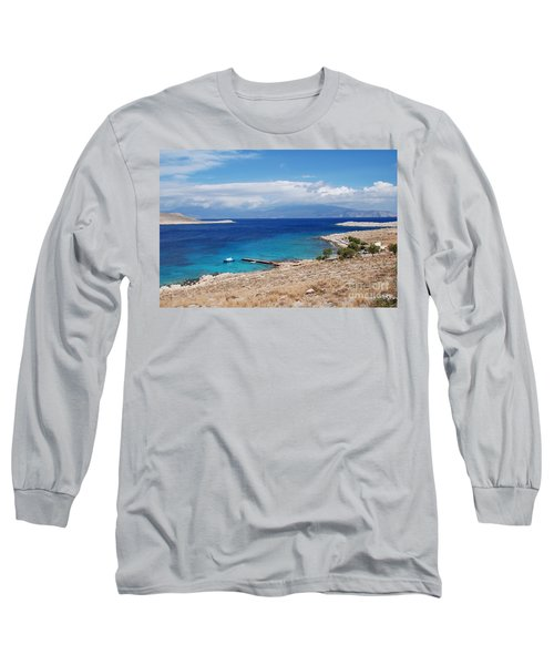 Ftenagia Beach On Halki Long Sleeve T-Shirt