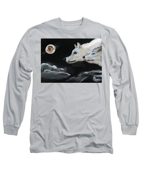 Full Moon Long Sleeve T-Shirt by Carole Robins
