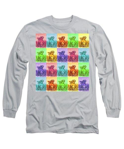 Fun Spring Bunnies Long Sleeve T-Shirt