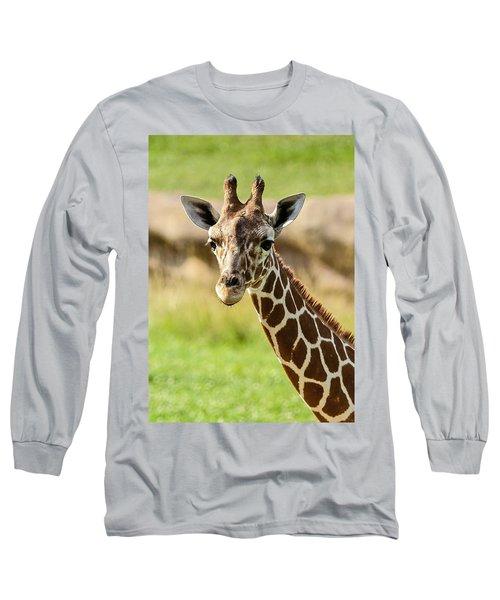 Long Sleeve T-Shirt featuring the photograph G Is For Giraffe by John Haldane