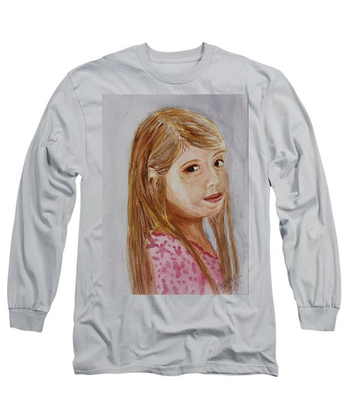 Long Sleeve T-Shirt featuring the painting Gabriella by Donna Walsh