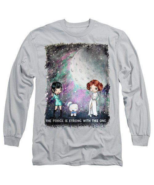Long Sleeve T-Shirt featuring the painting Galaxy Cosplay by Lizzy Love