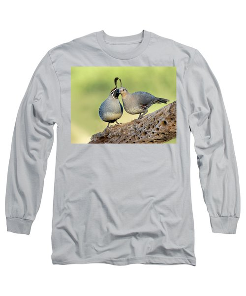 Gambels Quails In Love Long Sleeve T-Shirt