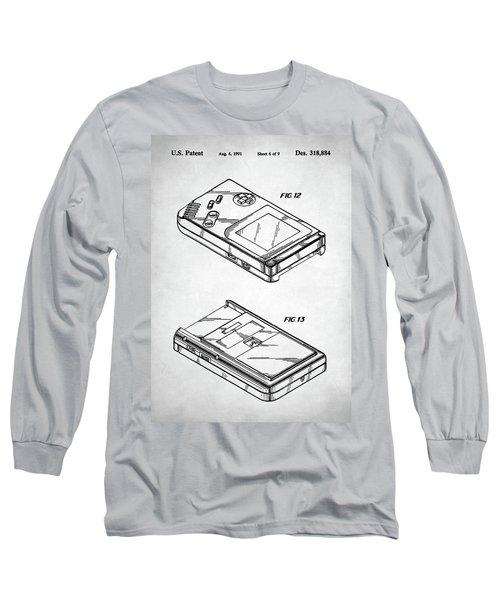 Long Sleeve T-Shirt featuring the digital art Gameboy Patent by Taylan Apukovska