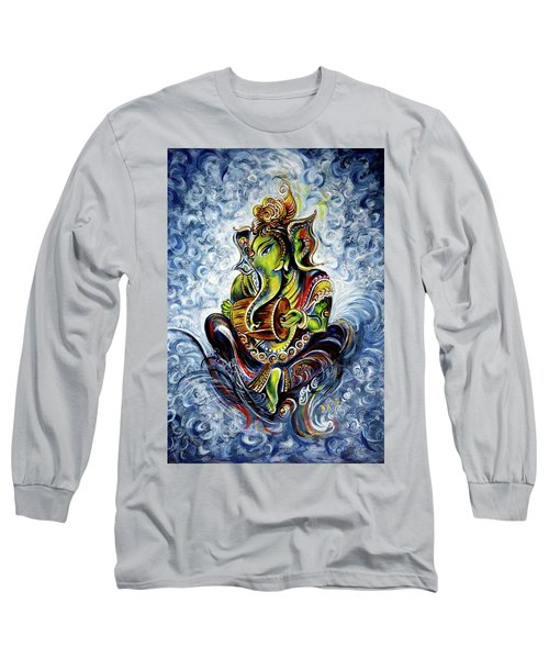 Ganesha Mridangam  Long Sleeve T-Shirt