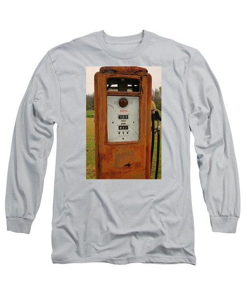 Gasoline Pump Long Sleeve T-Shirt by Ronald Olivier